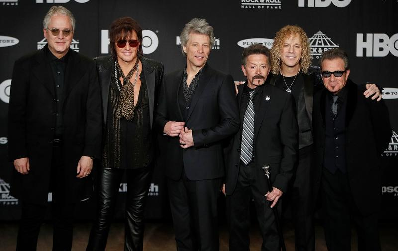 Bon Jovi in the press room