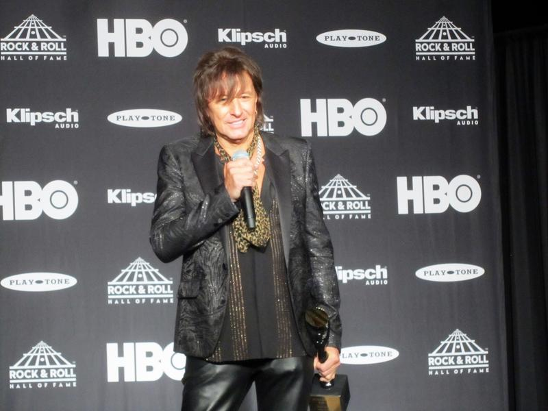 Richie Sambora in the press room