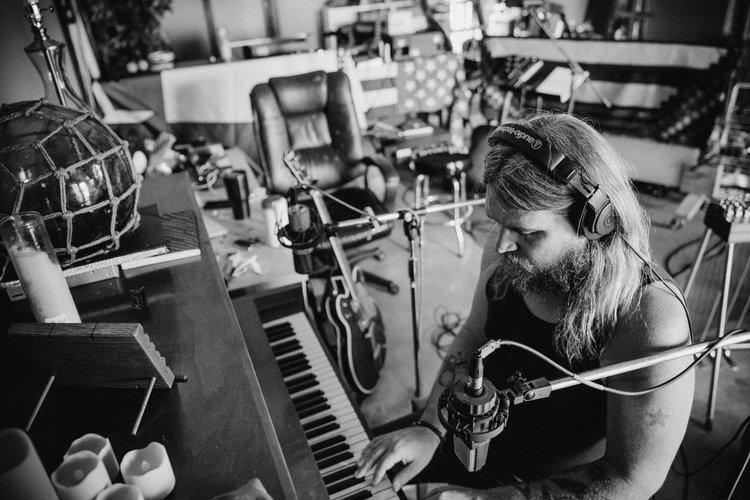 Israel Nash at his Plum Creek Sound studio