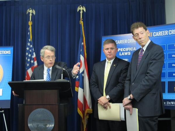 Ohio Attorney General Mike DeWine, State Sen. Jim Hughes (R-Columbus) and Franklin County Prosector Ron O'Brien
