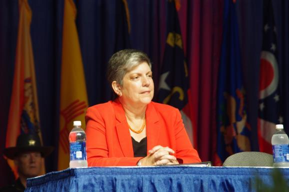 Homeland Security Directpr Janet Napolitano in Cincinnati
