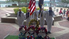 The Peoria Memorial Day event at the Gateway Building.