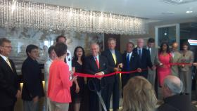 The ribbon cutting on Peoria's historic Pere Marquette Marriott grand reopening