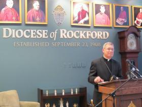 Bishop David Malloy. Courtesy of Jenna Dooley, IPR.
