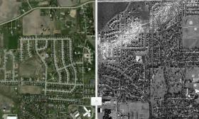 Before and after photos offer chilling review of tornado damage in Washington, Illinois.