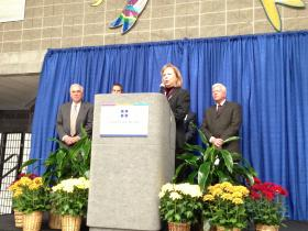 UnityPoint Health-Methodist and Proctor CEO, Debbie Simon, speaks at launch of combined entity