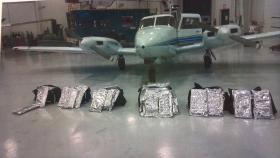 A picture of the plane carrying large amounts of cannabis stopped at the Peoria International Airport on its way to the East Coast.