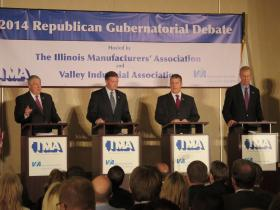 Republican candidates for governor face off in Naperville debate.
