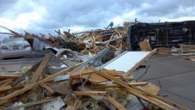 Debris from Washington tornado.
