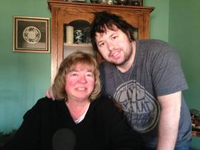Debra and Zach Medlyn at their home in Champaign, Il.