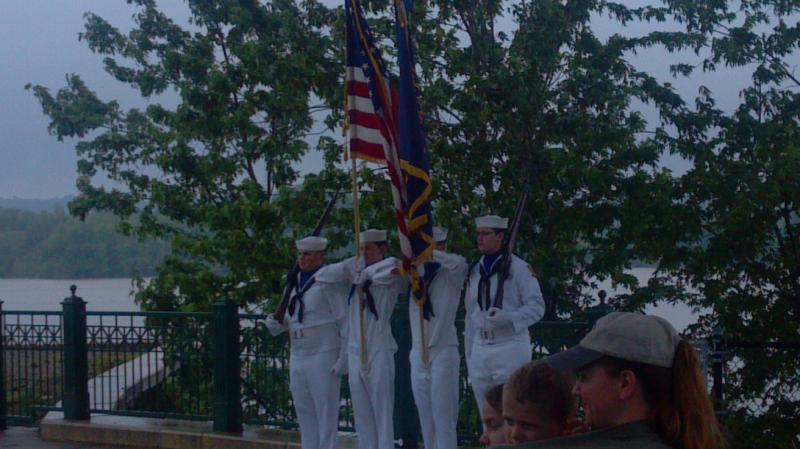 The Memorial Day Ceremony for Navy Club Ship 43 honoring maritime service banches
