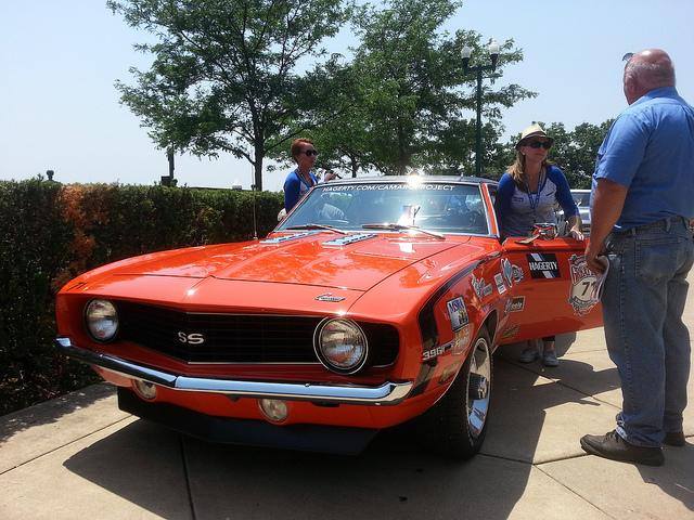A newly-restored 1969 Chevrolet Camaro was the choice for Tricia Felski and Tabetha Salsbury. The Hagerty team restored the car to its former glory for this year's race .