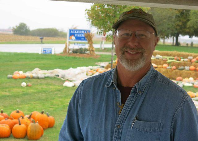 "Ackerman has been growing ""Libby's Select"" pumpkins since 1986"