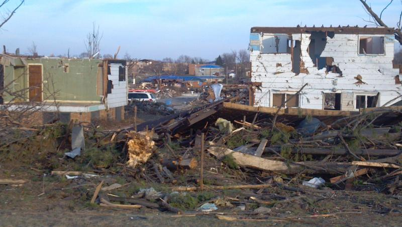 Washington, Illinois post-tornado clean-up continues Friday, November 29, 2013