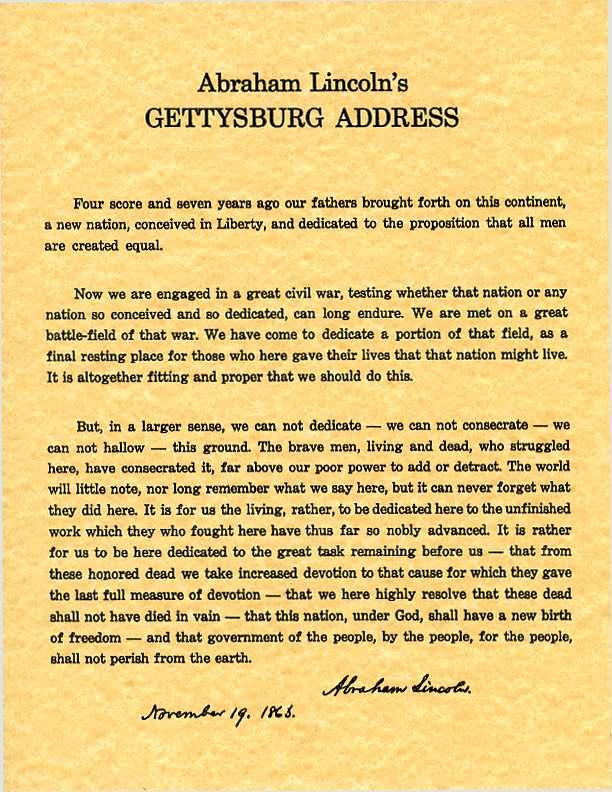 gettysburg address thesis statement Battle of gettysburg essay writing tips the answer will serve as your thesis statement if you decide to address all since this is the battle of gettysburg.