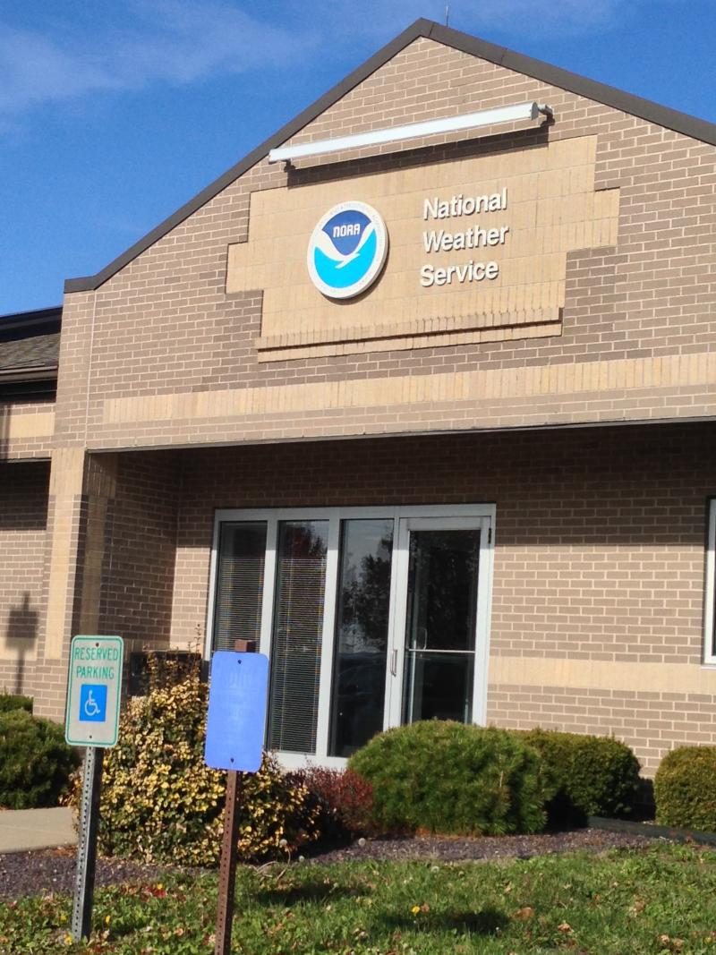 The National Weather Service office in Lincoln, Ill. on Nov. 19, 2013.