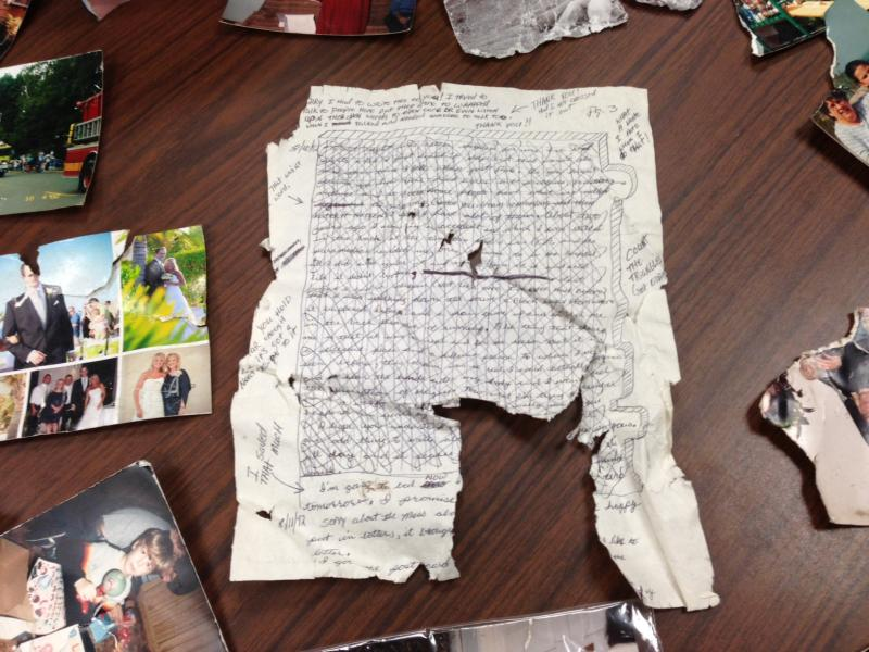 Love or break-up letter found after storm