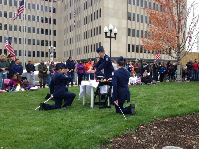 POW/MIA ceremony at Veterans Day event at Peoria County Courthouse
