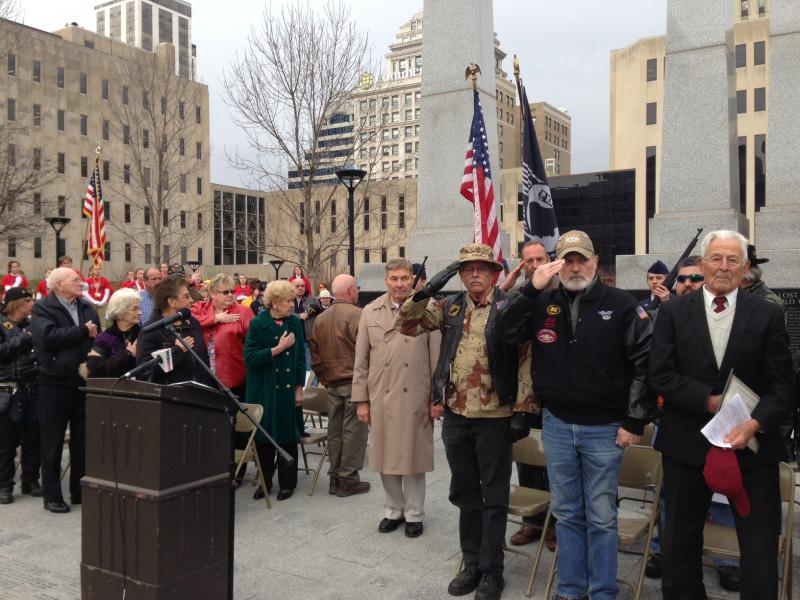 Veterans Day ceremony at Peoria County Courthouse