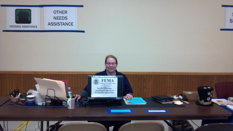Kathy, is a recovery specialist at the Disaster Recovery Center in East Peoria.