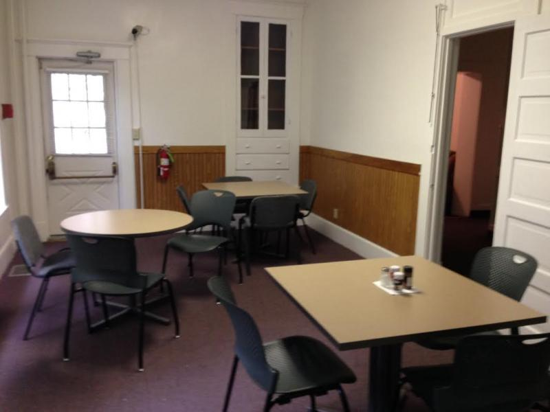 The dining room of Veterans' Haven.