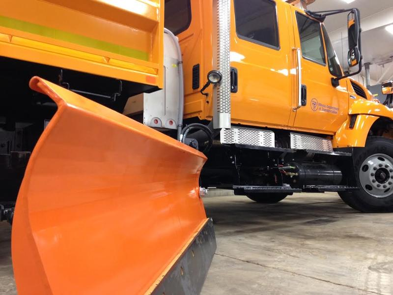 Illinois Department of Transportation snow plow