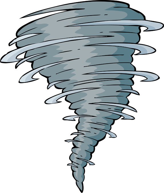 Twister Tornado Clip Art 2 tornadoes touch down...