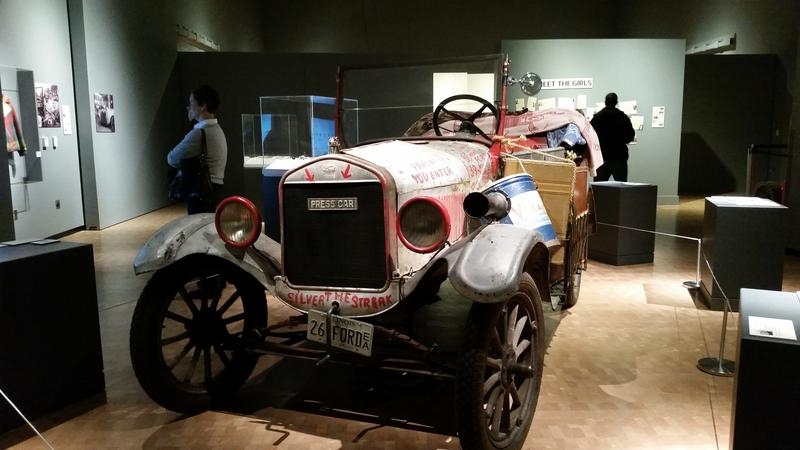 """The 1926 model T touring sedan known as """"The Silver Streak"""" on display at the Peoria Riverfront Museum. The fabled automobile is also the subject of owner / author John Butte's Book """"Darlene's Silver Streak and the Bradford Model T Girls."""""""