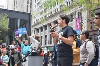 A protest against the Trump administration's decision to rescind DACA in Chicago Sept. 7, the day after U.S. Attorney General Jeff Sessions announced the decision.