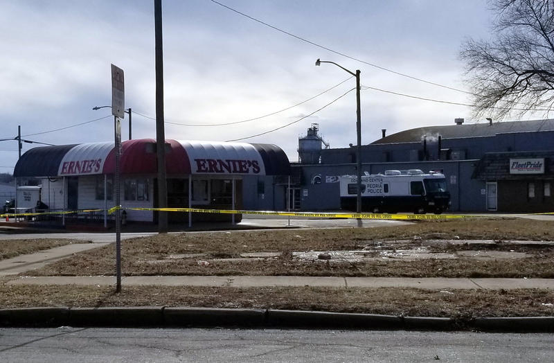 Peoria Police have established a mobile command center off of Jefferson Ave.