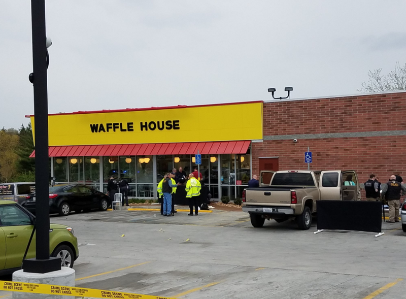 The Waffle House restaurant in Antioch, Tennessee was the scene of the deadly shooting.