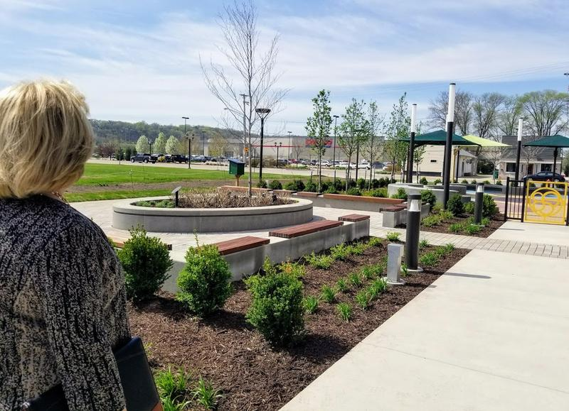 The new garden helps to anchor the Levee District.