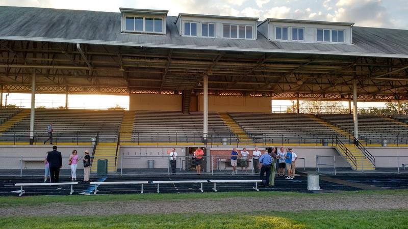 The Peoria Stadium Granstands,  originally constructed in 1905. The aging stadium could have a new lease on life under a plan developed by Richwood High School students.  (File Photo)