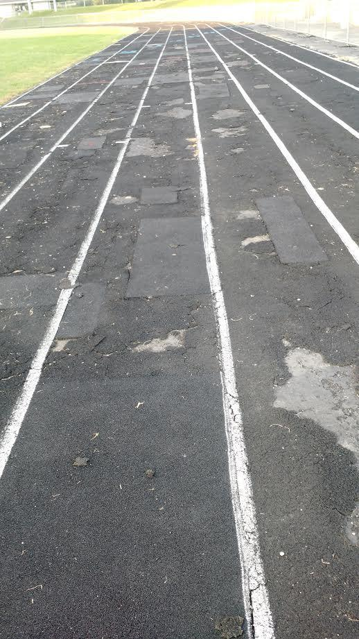 The track at Peoria Stadium, originally constructed in 1937.  (File Photo)