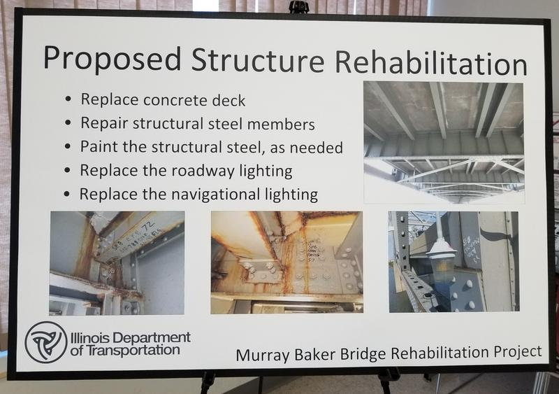 IDOT will close the Murray Baker bridge for rehabilitation in 2020.