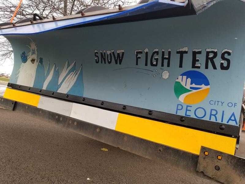 That's right. The blade of this snow plow was reportedly painted for the Snow Plow Rodeo. Yes. That's a real thing.
