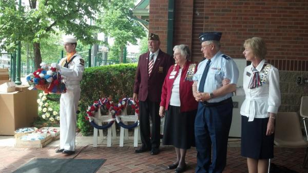 Memorial Day Wreath Ceremony Gateway Building Peoria