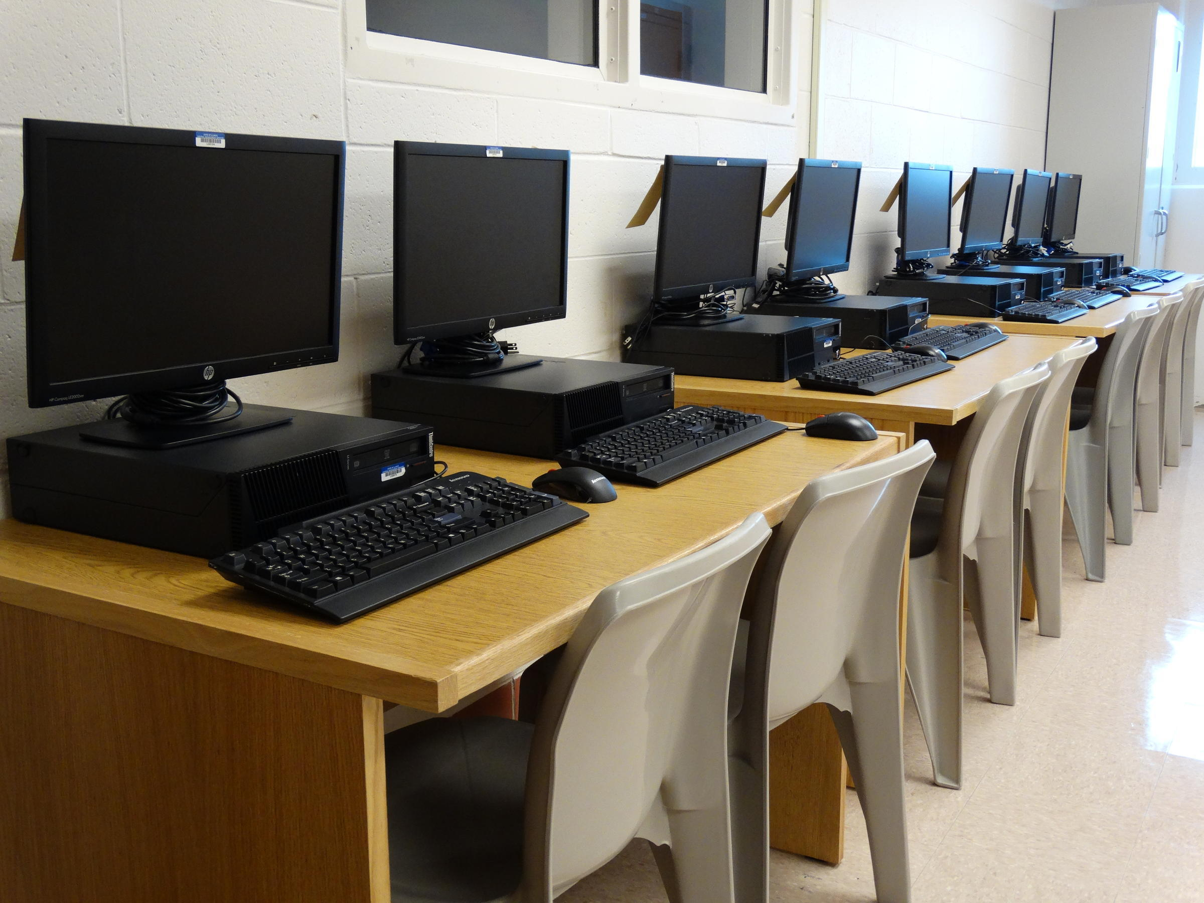 A View Of The Computer Stations Available To Inmates At The Kewanee  Facility.
