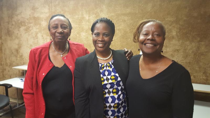 Dr. Dorcas Bowles, Atasha Murray, Kiplyn Primus(l-r)