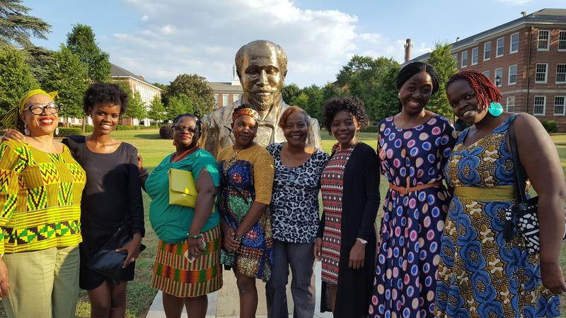 Kiplyn Primus joined by 2016 CAU YALI Fellows including Rita Chiangoe Zamum Anita Tele-Oduloye Ebenezer Lukamba Veronica Bakam Lorna Abwonji