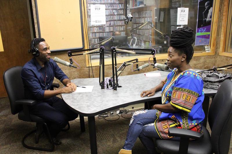 Ray Cornelius in the studio with singer Phillippia