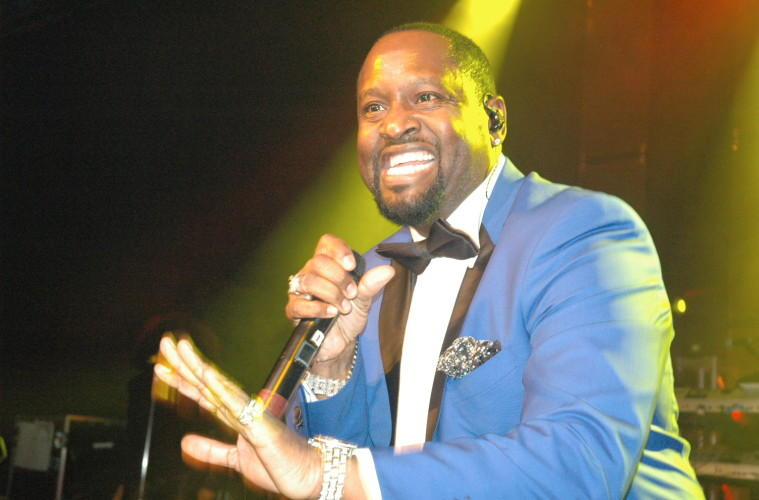 Johnny Gill performing at the 2014 UNCF's Mayor's Masked Ball