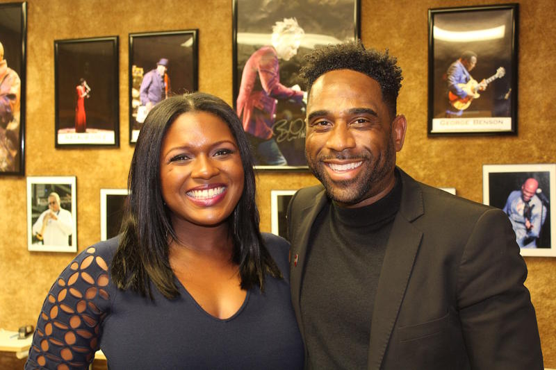 "Ray Cornelius with ""Greenleaf"" actress Deborah Joy Winans"