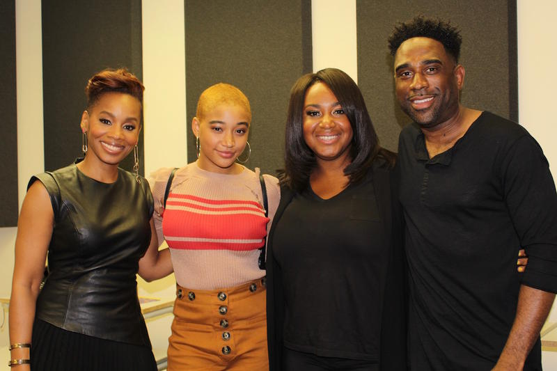 Ray Cornelius with Anika Noni Rose, Amandla Stenberg and Stella Meghie