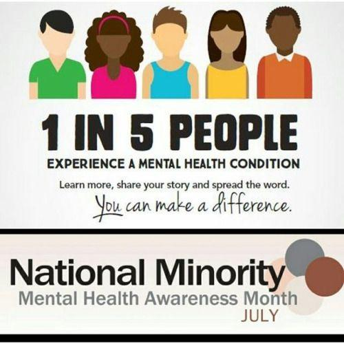 National Minority Mental Health Awareness Month July 2017