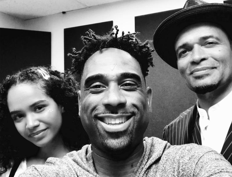 Ray Cornelius with Mario and Morgana Van Peebles