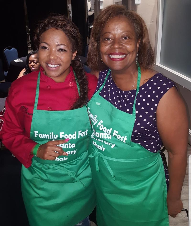 Tregaye Fraser and Kiplyn Primus at Family Food Fest Atlanta 2017