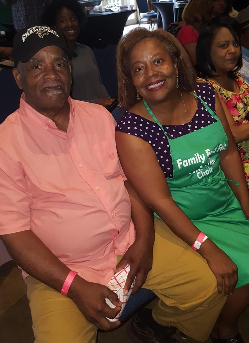 Frederick Primus, my dad and Kiplyn Primus at Family Food Fest Atlanta 2017