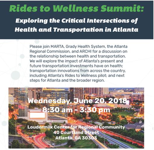 Rides to Wellness Summit June 20, 2018