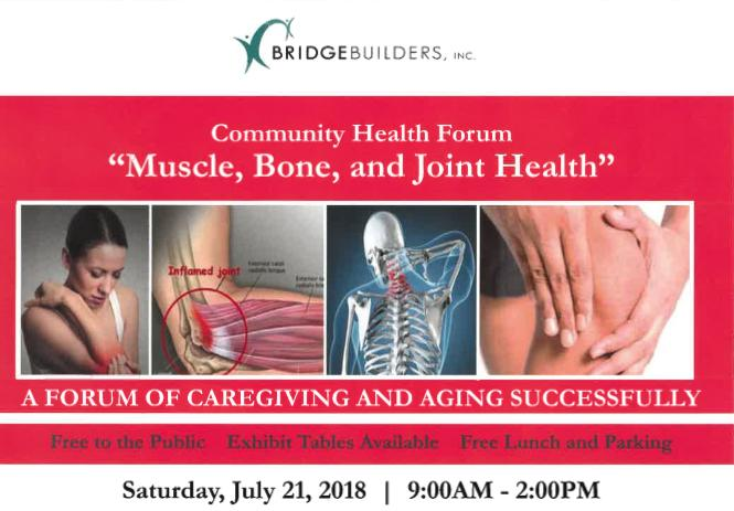 BridgeBuilders Community Health Forum 2018